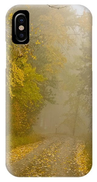 Foggy Autumn Morn IPhone Case