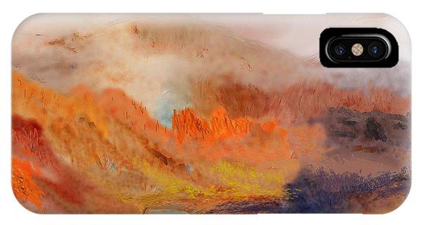 Foggy Autumnal Dream IPhone Case