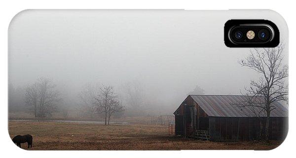 Foggy Barnyard IPhone Case