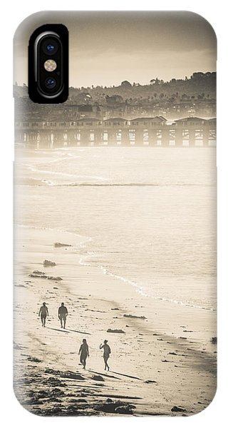 IPhone Case featuring the photograph Foggy Beach Walk by T Brian Jones
