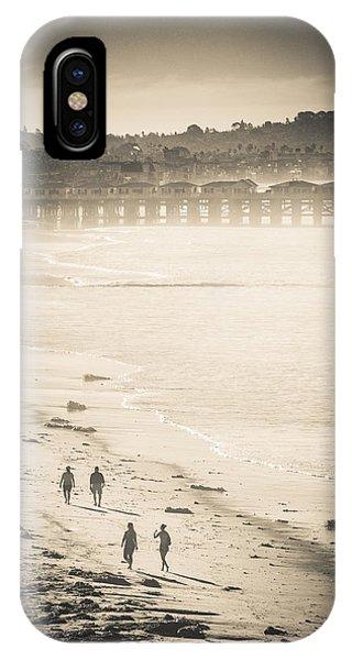 Foggy Beach Walk IPhone Case