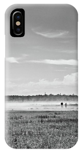 Foggy Day On A Marsh IPhone Case