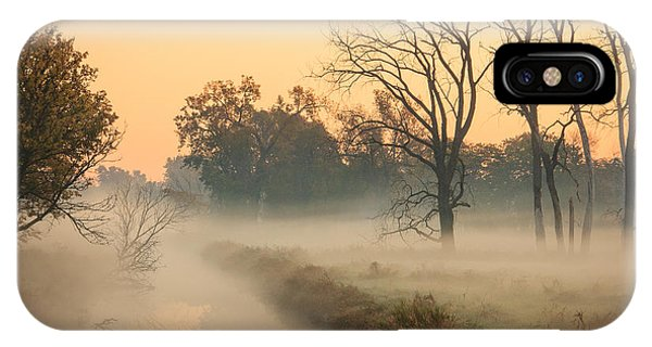 Foggy Fall Morning On Gary Avenue IPhone Case