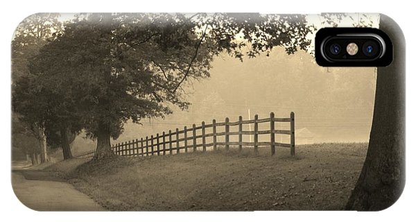 Foggy Fence Line IPhone Case