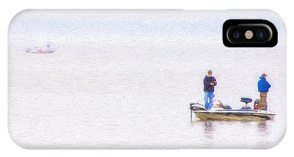 Foggy Fishing Morning IPhone Case