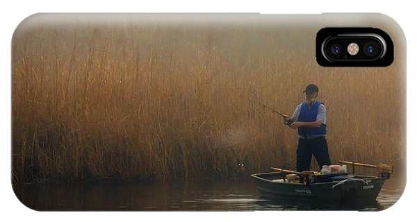 Foggy Fishing IPhone Case