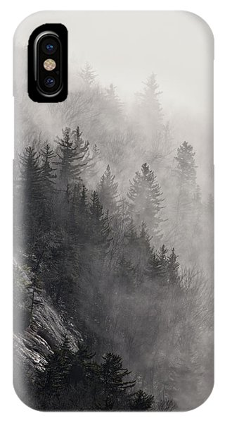 IPhone Case featuring the photograph Foggy Mountain Forest by Ken Barrett