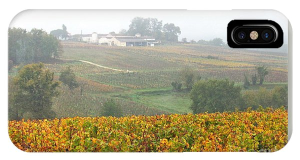 Foggy French Vineyard IPhone Case