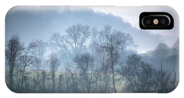 IPhone Case featuring the photograph Foggy Hills by Wanda Krack