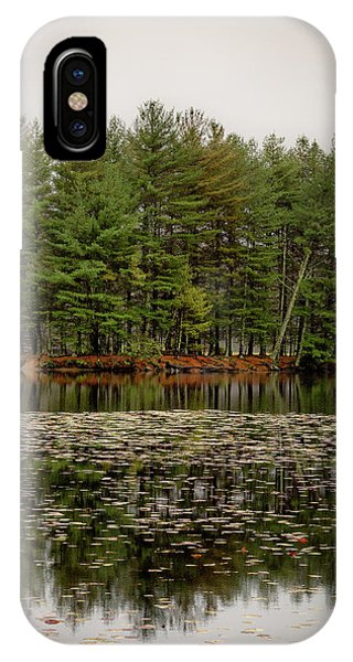 Foggy Island Reflections IPhone Case