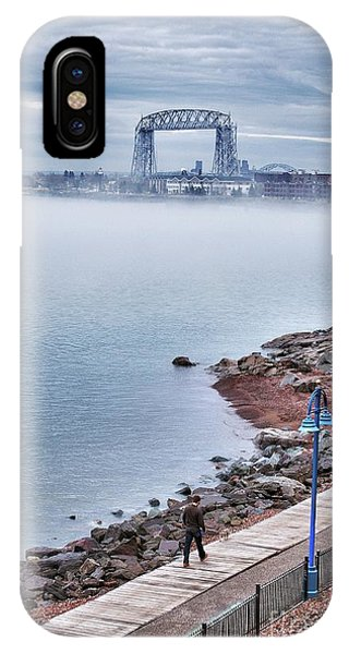 Foggy Lake Superior Afternoon IPhone Case