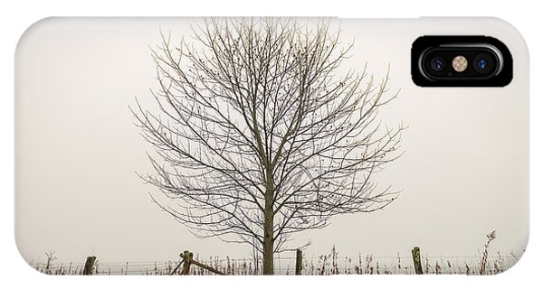 Foggy Lone Tree Hill IPhone Case