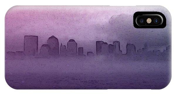 Foggy Manhatten IPhone Case