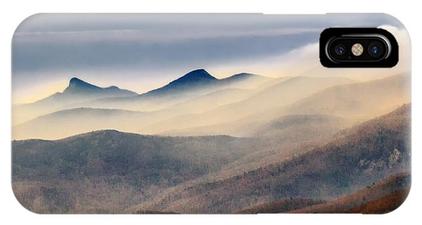 IPhone Case featuring the photograph Foggy Morning At Hawksbill And Table Rock by Ken Barrett