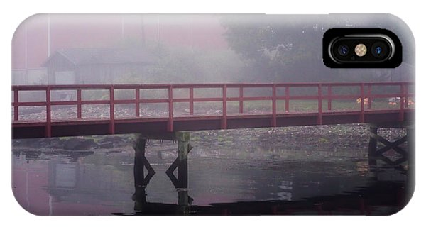 Foggy Morning At The Bridge IPhone Case