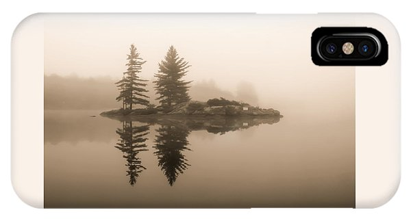 Foggy Morning Caution IPhone Case