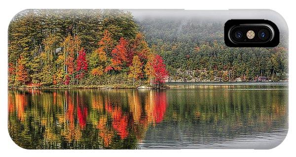 Fall Foliage iPhone Case - Foggy Morning by Evelina Kremsdorf