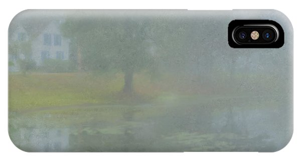Foggy Morning On Pond Street IPhone Case