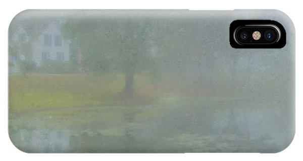 Foggy Morning On Pond Street IPhone Case