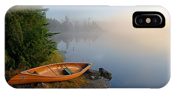 Landscape iPhone Case - Foggy Morning On Spice Lake by Larry Ricker