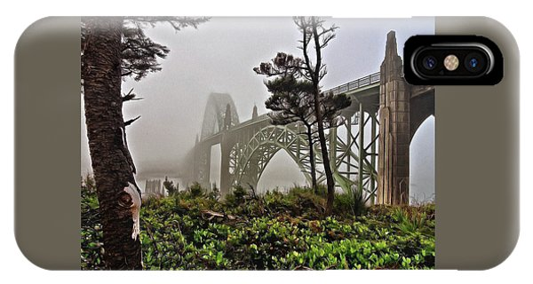 A Foggy Morning On Yaquina Bay IPhone Case