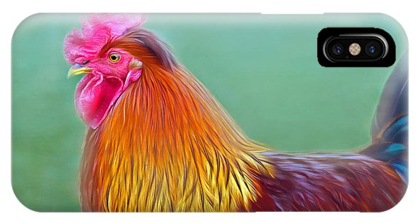 Foggy Morning Rooster IPhone Case
