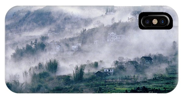 Foggy Mountain Of Sa Pa In Vietnam IPhone Case