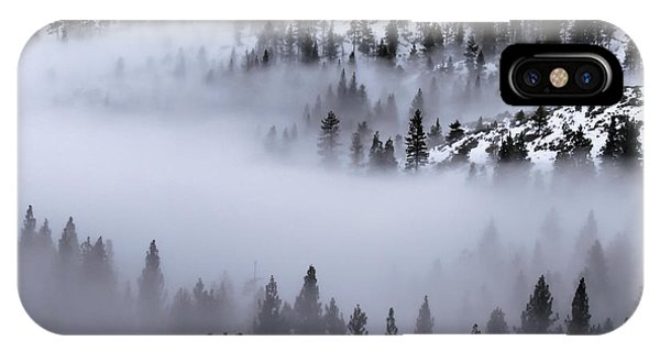 Foggy Mountain Pass IPhone Case