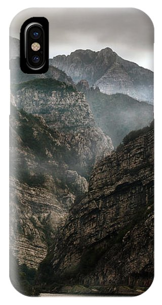 Foggy Mountains Over Neretva Gorge IPhone Case