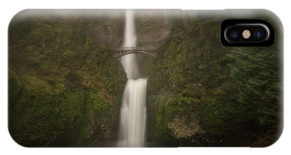 Foggy Multnomah Falls IPhone Case
