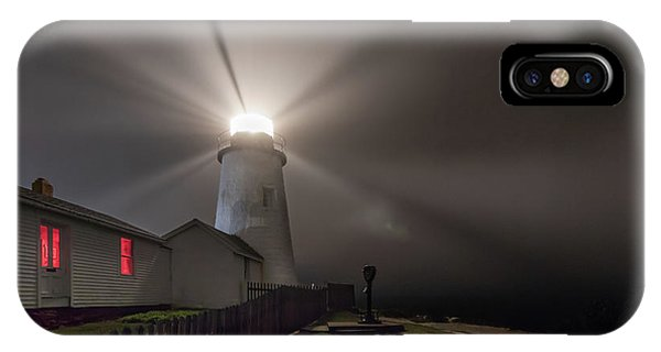 Foggy Night At Pemaquid Point Lighthouse IPhone Case