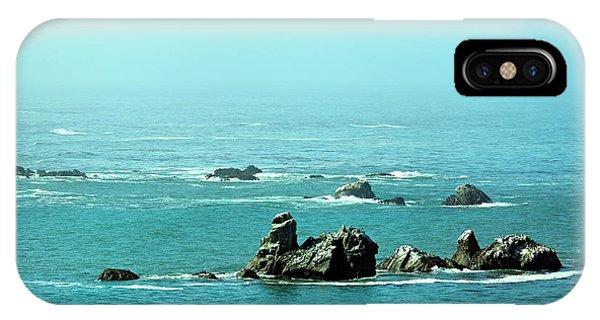 Sunny Blue Pacific Ocean Along The Oregon Coast IPhone Case