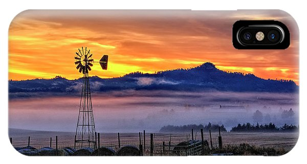 Foggy Spearfish Sunrise IPhone Case