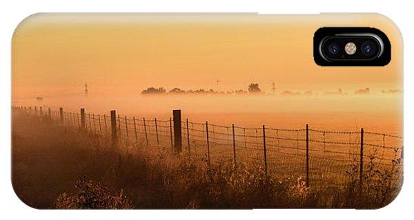 Foggy Sunrise On Hawkins Rd IPhone Case
