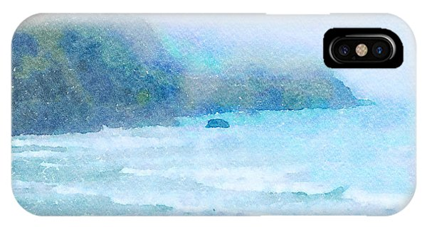 IPhone Case featuring the painting Foggy Surf by Angela Treat Lyon
