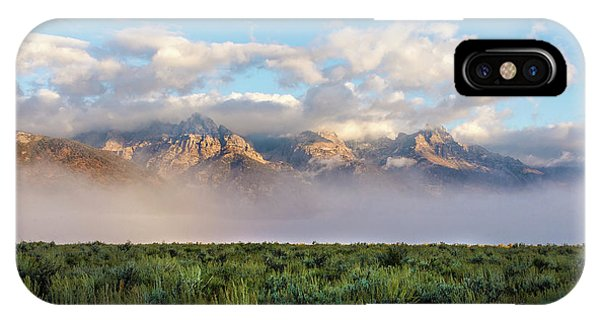 Teton iPhone Case - Foggy Teton Sunrise - Grand Tetons National Park Wyoming by Brian Harig