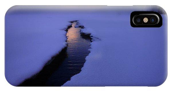 Foggy Winter Days In Banff IPhone Case