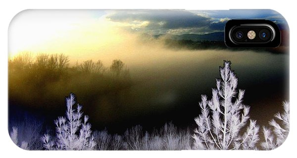 Foggy Winter Sunset IPhone Case