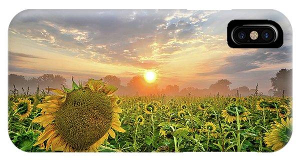 Foggy Yellow Fields IPhone Case