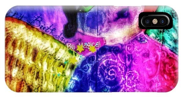 Folk Art Happy Birthday Angel IPhone Case