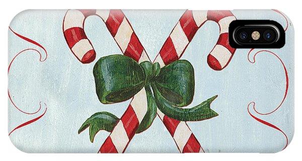 Holidays iPhone Case - Folk Candy Cane by Debbie DeWitt