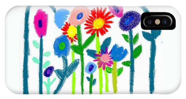 IPhone Case featuring the pastel Folk Garden by Bee-Bee Deigner
