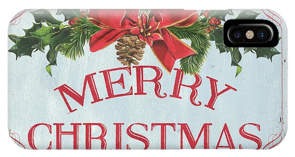 Folk Merry Christmas IPhone Case