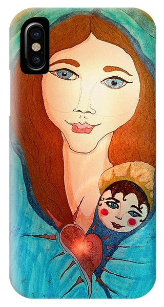 Folk Mother And Child IPhone Case