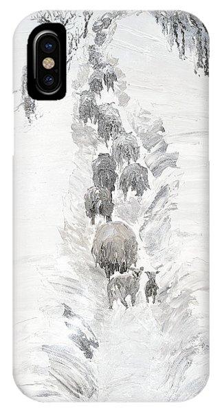 Follow The Flock IPhone Case
