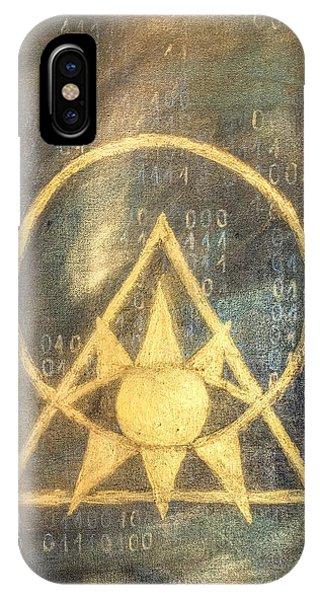 Follow The Light - Illuminati And Binary IPhone Case