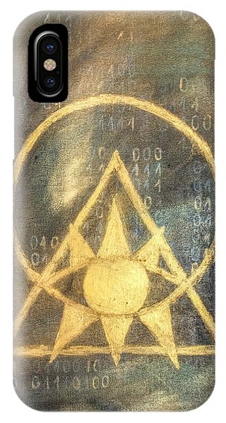 Follow The Light - Illuminati And Binary IPhone Case
