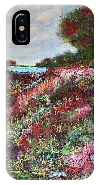 IPhone Case featuring the pastel Follow The Whispers by Vickie Scarlett-Fisher