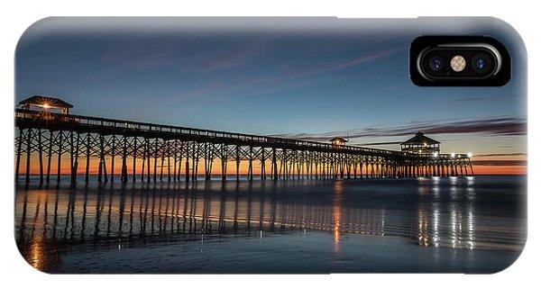 Folly Beach Pier Before Sunrise IPhone Case