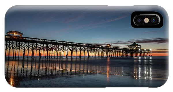 Folly Beach Pier Before Sunrise IPhone Case